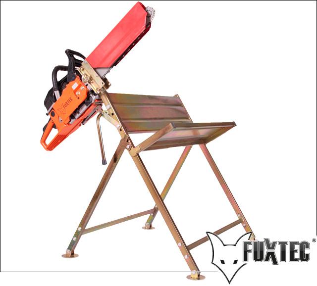SAGEBOCK-mit-Halterung-fuer-Kettensaege-statt-Wippsaege-passend-FUXTEC-STIHL-etc